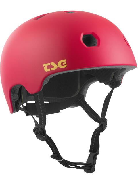 TSG Meta Solid Color Kask rowerowy czerwony